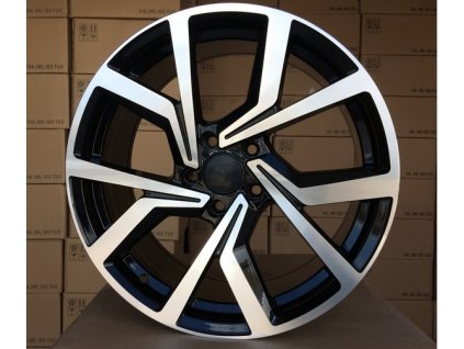 Alu kola VW 15x6 5x112 ET42 57.1 Black Polished Powered Coating