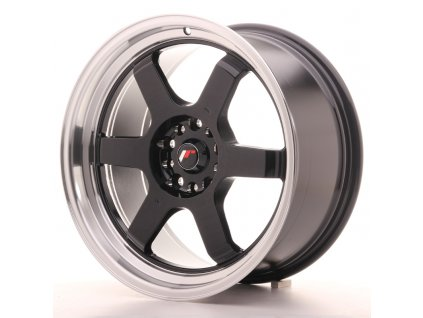 Alu kola Japan Racing JR12 18x9 ET30 5x100/120 Gloss Black w/Machined Lip