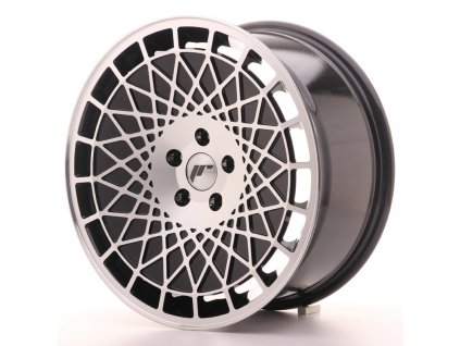 Alu kola Japan Racing JR14 18x8,5 ET40 5x114,3Gloss Black w/Machined Face