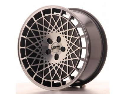 Alu kola Japan Racing JR14 18x8,5 ET25-40 5H BLANK Gloss Black w/Machined Face