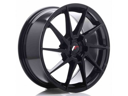 Alu kola Japan Racing JR36 18x8 ET20-52 5H BLANK Gloss Black