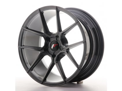 Alu kola Japan Racing JR30 18x8,5 ET20-40 5H BLANK Hyper Black