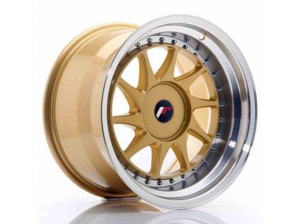 Alu kola Japan Racing JR26 17x10 ET20-25 BLANK Gold w/Machined Lip