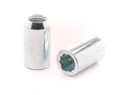 Sada stříbrných hvězdicových matic 14x1,5 + Klíč