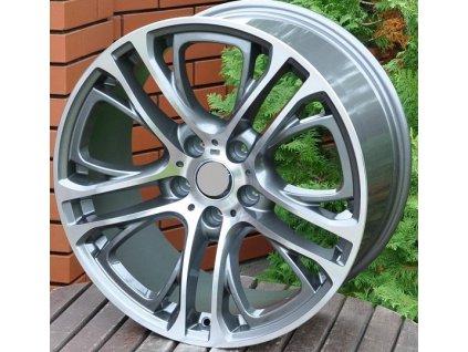 Alu kola design BMW 19x8.5 5x120 ET38 72.6 šedé