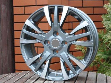Alu kola design Fiat 15x6 4x99 ET35 73,1 šedé
