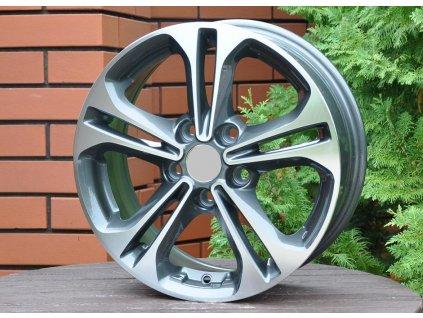 Alu kola design Hyundai 15x6.5 5x114.3 ET45 67.1 šedé