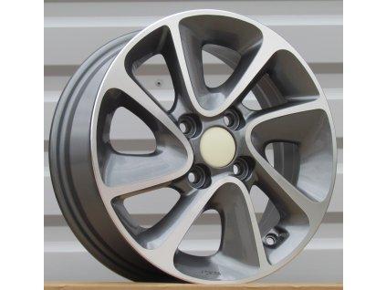 Alu kola design Hyundai 14x5 4x100 ET41 54,1 šedé