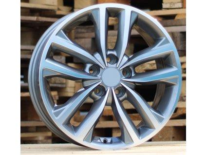 Alu kola design Kia 17x7 5x114.3 ET40 67.1 šedé
