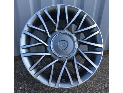 Alu kola design Lancia 15x6 4x98 ET30 58.1 šedé