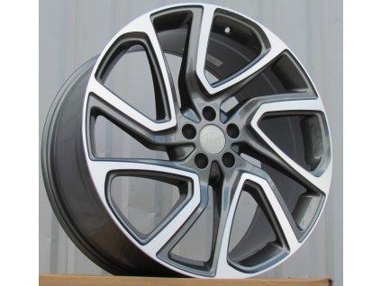 Alu kola design Land Rover 21x9.5 5x108 ET45 63.3 šedé