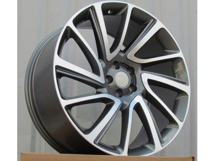 Alu kola design Land Rover 21x9.5 5x120 ET45 72.6 šedé
