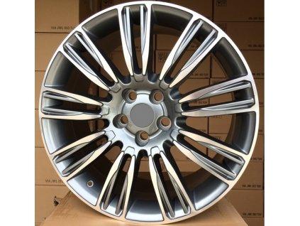 Alu kola design Land Rover 22x9.5 5x108 ET45 63.3 šedé