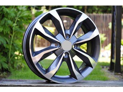 Alu kola design Nissan 15x5,5 4x100 ET45 60,1 šedé