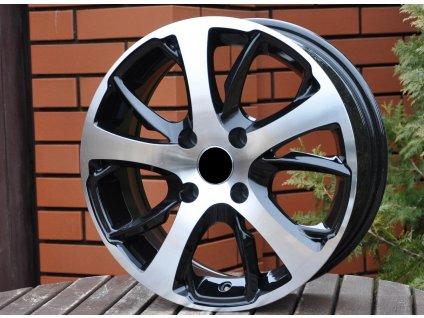 Alu kola design Peugeot 15x6 4x108 ET25 65,1 černé