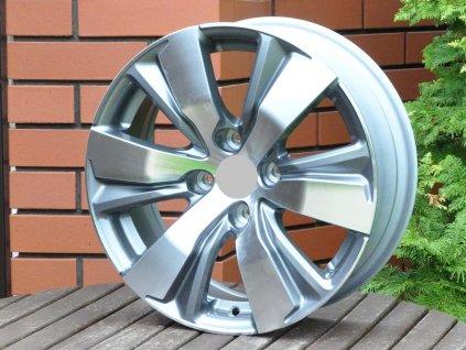 Alu kola design Peugeot 16x6,5 4x108 ET18 65,1 šedé