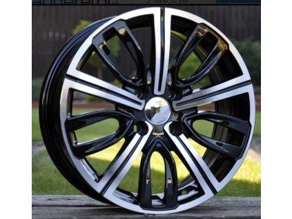 Alu kola design Peugeot 16x6.5 4x108 ET26 65.1 černé