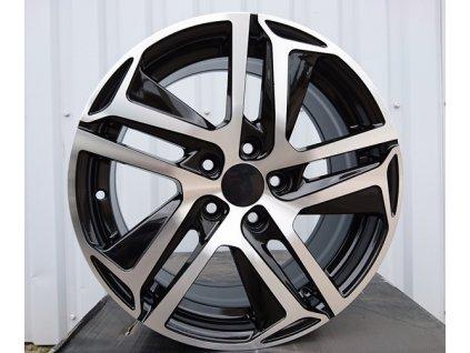 Alu kola design Peugeot 16x7 5x108 ET47 65,1 černé