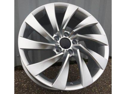 Alu kola design Volkswagen 19x8 5x112 ET40 57,1 stříbrné