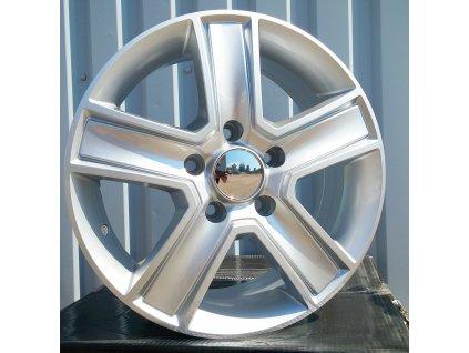 Alu kola design Volkswagen 16x6,5 5x120 ET45 65,1 stříbrné