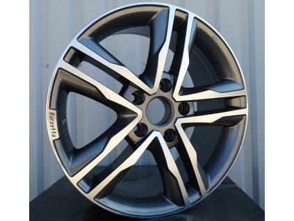 Alu kola design Volkswagen 17x7,5 5x120 ET50 65,1 šedé