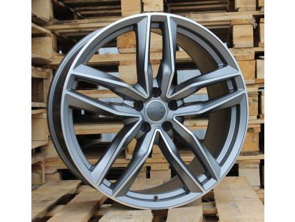 Alu kola design Audi 20x9 5x112 ET37 66,45 šedé