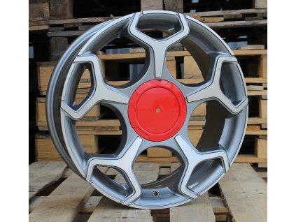Alu kola design Fiat 17x7 5x98 ET40 58.1 šedé