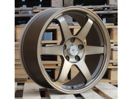 Alu kola replika Japan Racing 18x8 5x114.3 ET35 73.1 zlaté