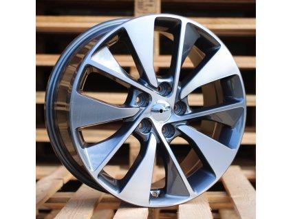 Alu kola design Kia 18x7.5 5x114.3 ET50 67.1 šedé