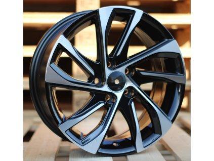 Alu kola design Fiat 16x6.5 5x98 ET39 58.1 černé