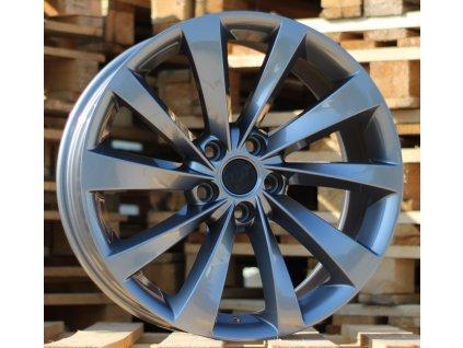 Alu kola design Tesla 18x8 5x114.3 ET40 64.1 šedé