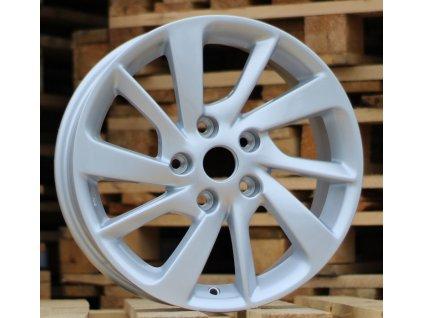 Alu kola design Nissan 16x6.5 5x114.3 ET40 66.1 stříbrné