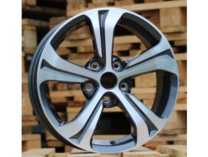 Alu kola design Nissan 16x6.5 5x114.3 ET40 66.1 šedé