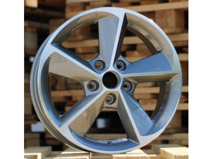Alu kola design Škoda 16x6.5 5x112 ET46 57.1 šedé
