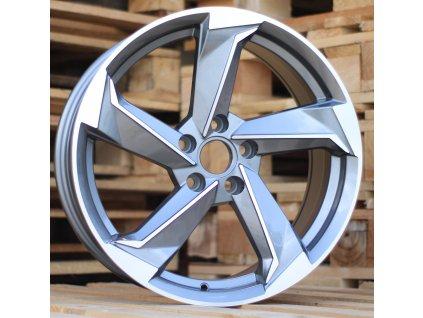 Alu kola design Audi 20x9 5x112 ET35 66.45 šedé
