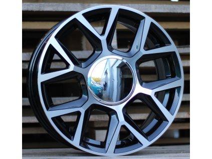 Alu kola design Volkswagen 16x6.5 4x100 ET43 57.1 černé