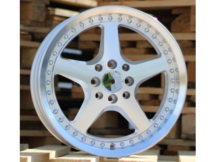 Alu kola design  16x7.5 8x100/114.3 ET35 73.1 stříbrné