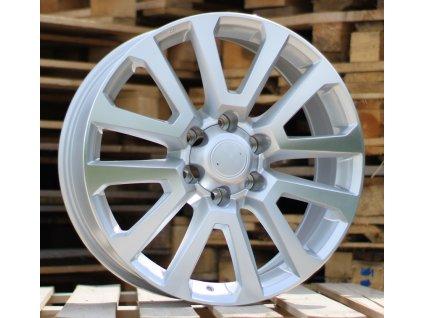Alu kola design Toyota 20x8.5 6x139.7 ET25 106.1 stříbrné