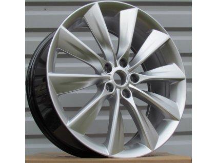 Alu kola design Tesla 21x8.5 5x120 ET40 64.1 stříbrné