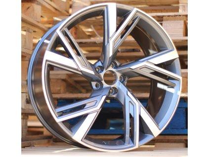Alu kola design Audi 22x9.5 5x112 ET31 66.45 šedé