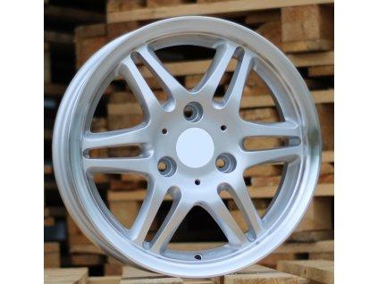 Alu kola design Smart 15x4.5 3x112 ET20 57.1 stříbrné