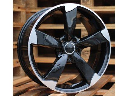Alu kola design Audi 17x7.5 5x112 ET45 66.45 černé