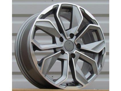 Alu kola design Renault 15x6 4x100 ET40 60.1 šedé