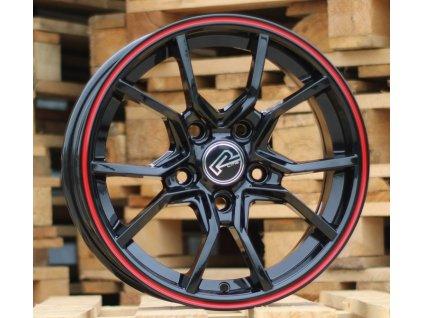 Alu kola design  15x6.5 4x100 ET35 60.1 červené