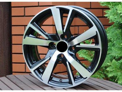 Alu kola design Peugeot 15x6 4x108 ET23 65.1 černé