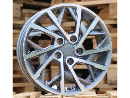 Alu kola design Kia 16x6.5 5x114.3 ET48 67.1 šedé