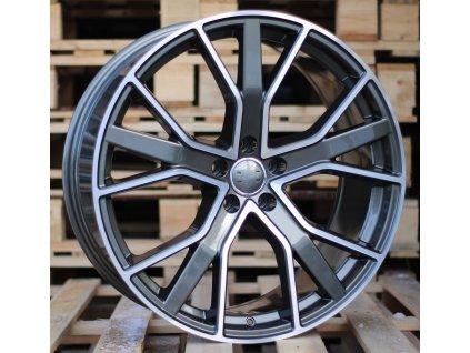 Alu kola design Audi 22x10 5x112 ET26 66.4 šedé