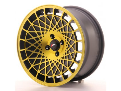 Alu kola Japan Racing JR14 16x8 ET20 5x100 Black Gold Finish
