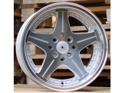 Alu kola design  15x8.5 8x100/114.3 ET25 73.1 stříbrné