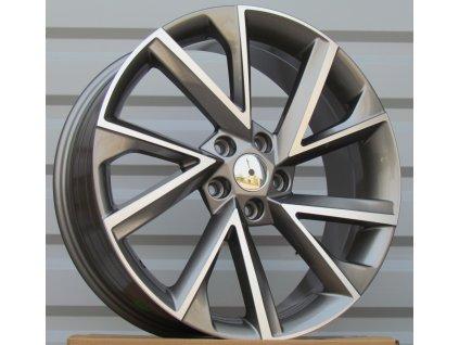 Alu kola design Škoda 18x7.5 5x112 ET43 57.1 šedé